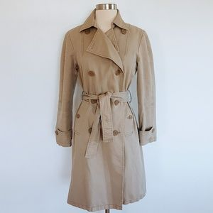 Gap | Classic Tan Long Trench Coat - Sz XS